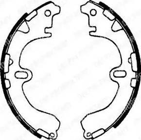 Delphi LS1601 - Jeu de freins, freins à tambour www.widencarpieces.com