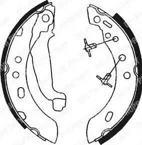Delphi LS1689 - Jeu de freins, freins à tambour www.widencarpieces.com