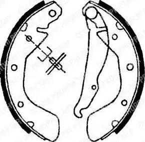 Delphi LS1622 - Jeu de freins, freins à tambour www.widencarpieces.com