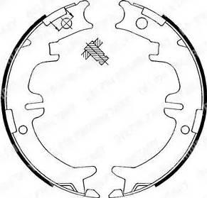 Delphi LS1892 - Jeu de mâchoires de frein, frein de stationnement www.widencarpieces.com