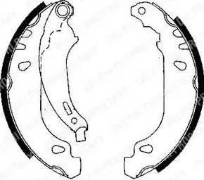 Delphi LS1844 - Jeu de freins, freins à tambour www.widencarpieces.com