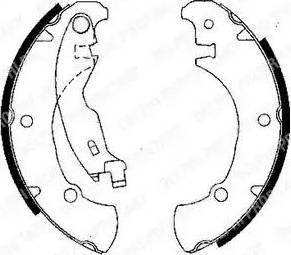 Delphi LS1840 - Jeu de freins, freins à tambour www.widencarpieces.com