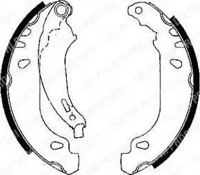 Delphi LS1848 - Jeu de freins, freins à tambour www.widencarpieces.com