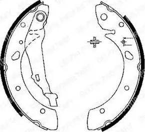 Delphi LS1843 - Jeu de freins, freins à tambour www.widencarpieces.com