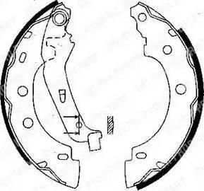 Delphi LS1842 - Jeu de freins, freins à tambour www.widencarpieces.com