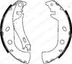 Delphi LS1847 - Jeu de freins, freins à tambour www.widencarpieces.com