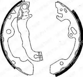 Delphi LS1850 - Jeu de freins, freins à tambour www.widencarpieces.com