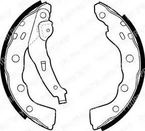 Delphi LS1880 - Jeu de freins, freins à tambour www.widencarpieces.com