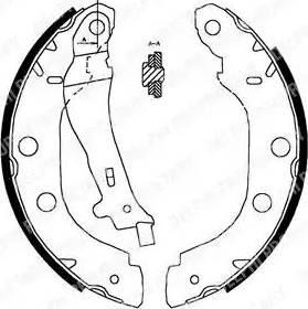 Delphi LS1828 - Jeu de freins, freins à tambour www.widencarpieces.com