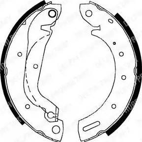 Delphi LS1827 - Jeu de freins, freins à tambour www.widencarpieces.com
