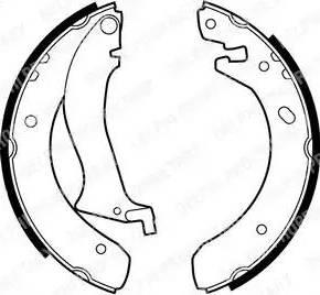 Delphi LS1870 - Jeu de freins, freins à tambour www.widencarpieces.com