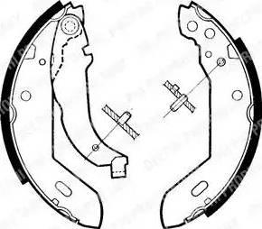 Delphi LS1329 - Jeu de freins, freins à tambour www.widencarpieces.com
