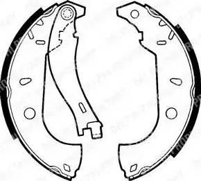 Delphi LS1379 - Jeu de freins, freins à tambour www.widencarpieces.com
