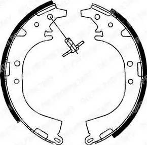 Delphi LS1745 - Jeu de freins, freins à tambour www.widencarpieces.com