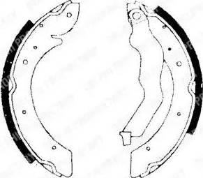 Delphi LS1714 - Jeu de freins, freins à tambour www.widencarpieces.com