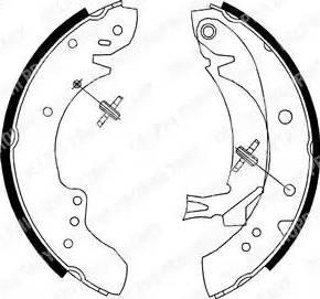 Delphi LS1712 - Jeu de freins, freins à tambour www.widencarpieces.com