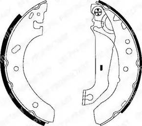 Delphi LS1783 - Jeu de freins, freins à tambour www.widencarpieces.com