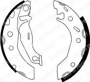 Delphi LS1728 - Jeu de freins, freins à tambour www.widencarpieces.com