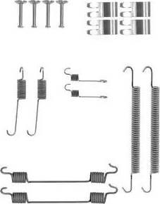 Delphi LY1407 - Kit d'accessoires, mâchoire de frein www.widencarpieces.com