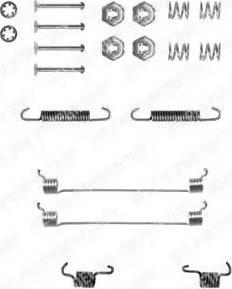 Delphi LY1055 - Kit d'accessoires, mâchoire de frein www.widencarpieces.com
