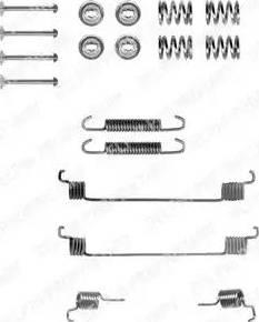 Delphi LY1061 - Kit d'accessoires, mâchoire de frein www.widencarpieces.com