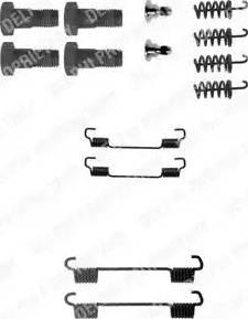 Delphi LY1198 - Kit d'accessoires, mâchoire de frein www.widencarpieces.com