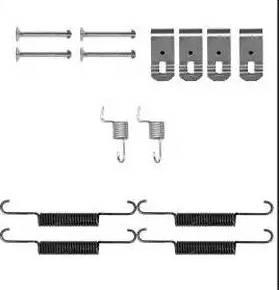 Delphi LY1399 - Kit d'accessoires, mâchoire de frein www.widencarpieces.com