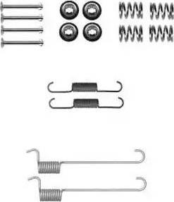 Delphi LY1379 - Kit d'accessoires, mâchoire de frein www.widencarpieces.com