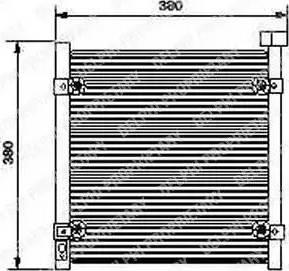 Delphi TSP0225422 - Condenseur, climatisation www.widencarpieces.com