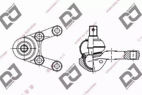 DJ Parts DB1040 - Rotule de suspension www.widencarpieces.com