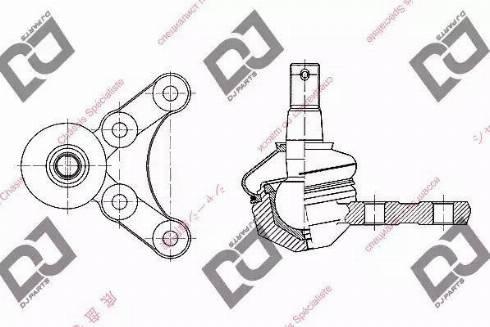 DJ Parts DB1233 - Rotule de suspension www.widencarpieces.com
