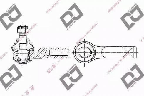 DJ Parts DE1376 - Tige de biellette, rotule www.widencarpieces.com