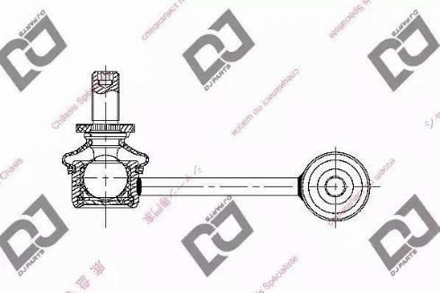 DJ Parts DL1393 - Entretoise/tige, stabilisateur www.widencarpieces.com