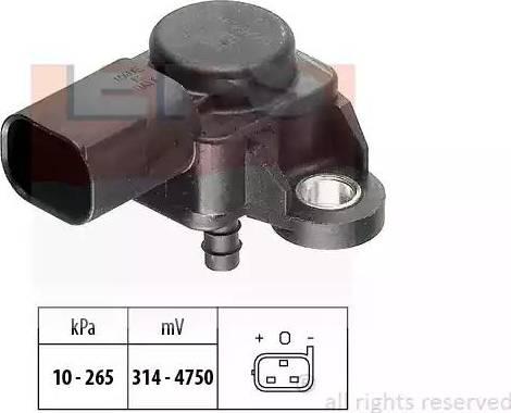 EPS 1993102 - Capteur, pression des gaz échappement www.widencarpieces.com