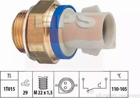 EPS 1850165 - Interrupteur de température, ventilateur de radiateur / climatiseur www.widencarpieces.com