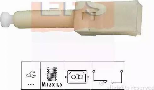 EPS 1.810.087 - Interrupteur des feux de freins www.widencarpieces.com