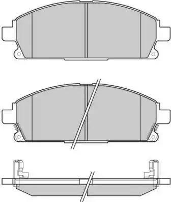E.T.F. 12-0968 - Kit de plaquettes de frein, frein à disque www.widencarpieces.com