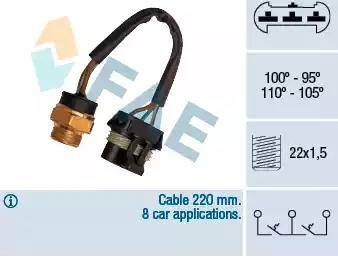FAE 38060 - Interrupteur de température, ventilateur de radiateur / climatiseur www.widencarpieces.com