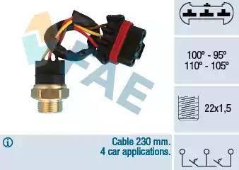 FAE 38300 - Interrupteur de température, ventilateur de radiateur / climatiseur www.widencarpieces.com