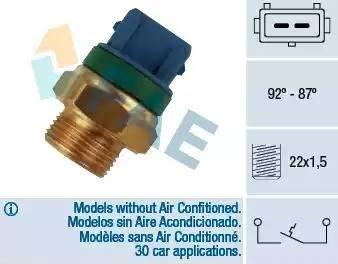 FAE 37680 - Interrupteur de température, ventilateur de radiateur / climatiseur www.widencarpieces.com