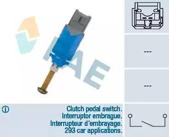 FAE 24901 - Commande, embrayage (régulateur de vitesse) www.widencarpieces.com