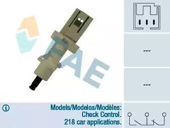 FAE 24410 - Commande, embrayage (régulateur de vitesse) www.widencarpieces.com