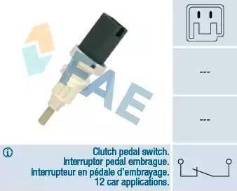 FAE 24665 - Commande, embrayage (régulateur de vitesse) www.widencarpieces.com