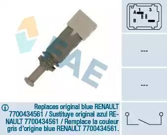 FAE 24891 - Commande, embrayage (régulateur de vitesse) www.widencarpieces.com