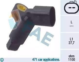 FAE 78008 - Capteur, vitesse de roue www.widencarpieces.com