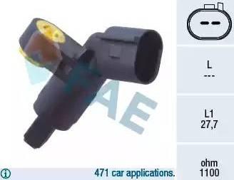FAE 78020 - Capteur, vitesse de roue www.widencarpieces.com