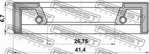 Febest 95FAY28410707X - Kit de réparation, crémaillière de direction www.widencarpieces.com