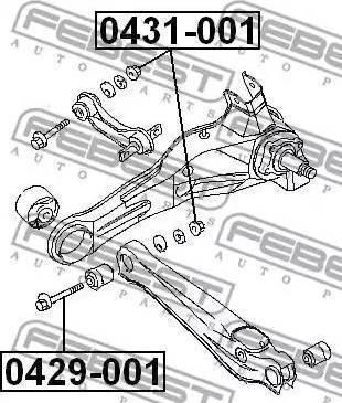 Febest 0429001 - Vis de correction du carrossage www.widencarpieces.com