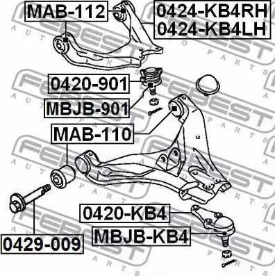 Febest 0420-KB4 - Rotule de suspension www.widencarpieces.com