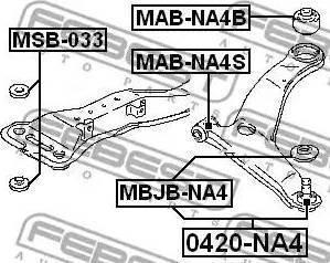 Febest 0420-NA4 - Rotule de suspension www.widencarpieces.com